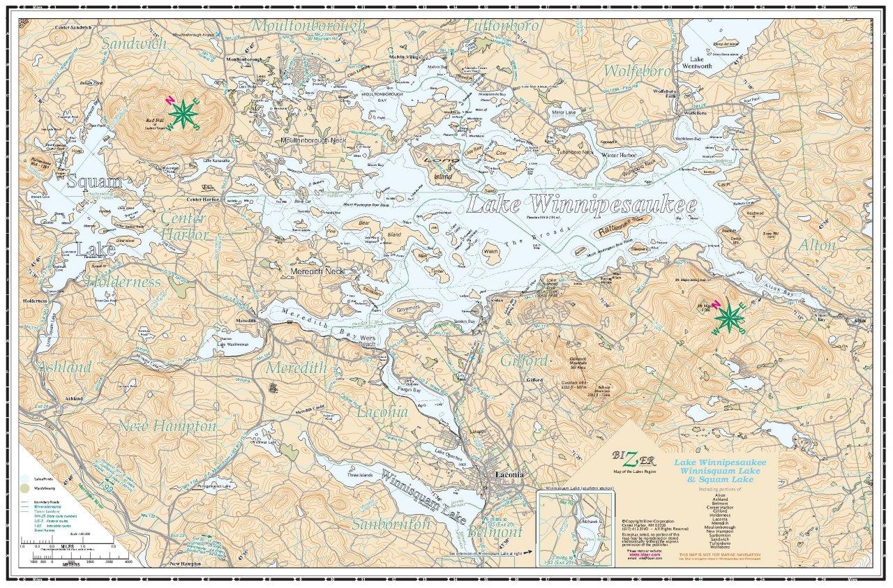 lake winnipesaukee fishing map Lake Winnipesaukee Navigation Chart lake winnipesaukee fishing map