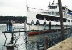 M/S Mount Washington dry docking, November 1999