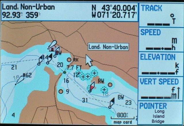 Bizer now has a Winnipesaukee map on a Garmin